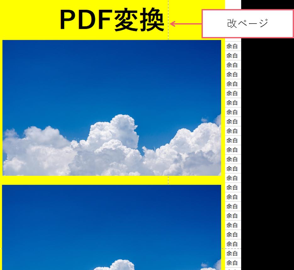 ずれる エクセル pdf Excel から